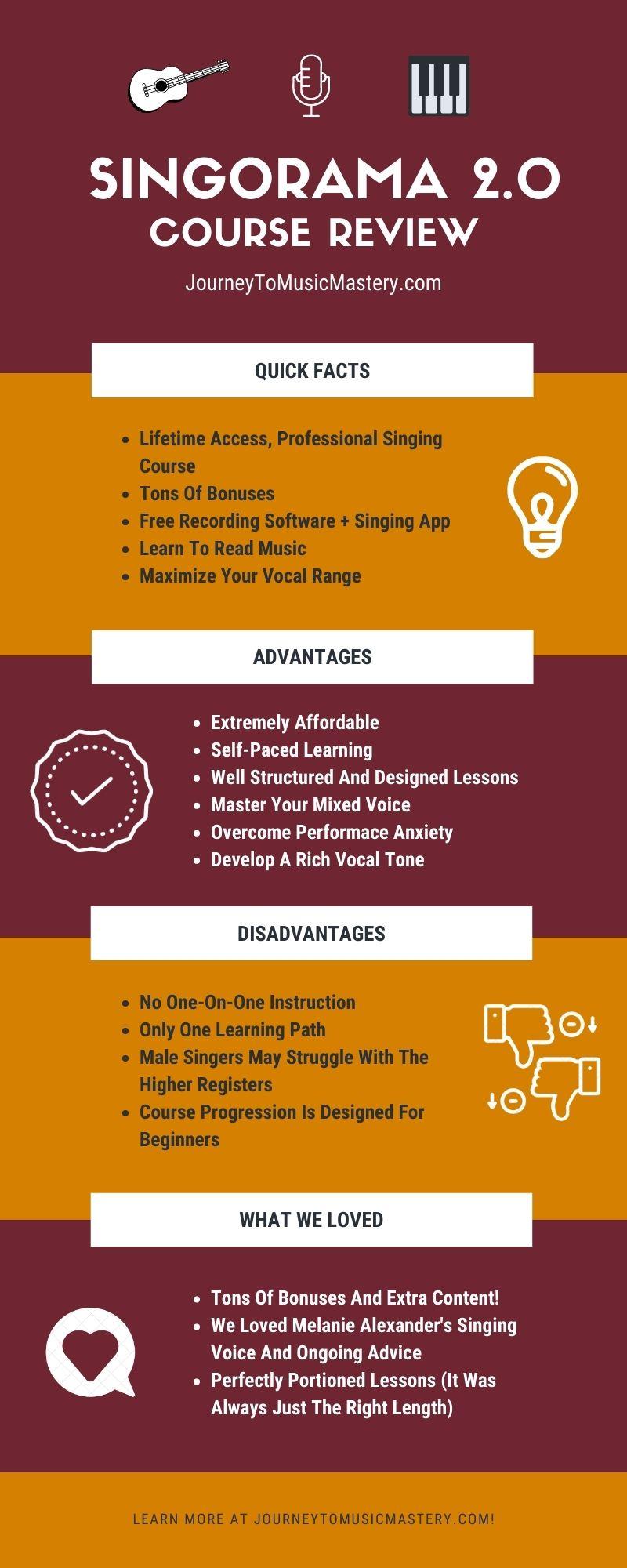 Singorama Review Infographic